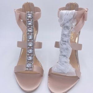 Jewel Badgley Mischka Crystal Embellished Sandal